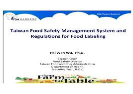 Taiwan Food Safety Regulations For Food Labeling