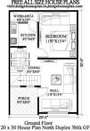 20x30 3 bedroom house plans 20x30