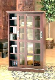 ameriwood glass door bookcase with sliding doors attractive bookshelf barn living room modern intended for from