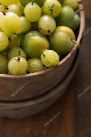 gooseberries and greengages in a rustic wooden bowl photo by stock photographyfirm co uk