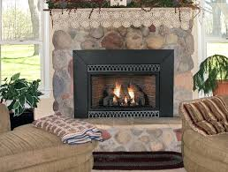 ventless gas fireplace insert dimensions