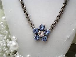 swarovski crystal flower necklace