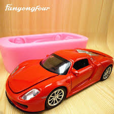 2019 3d Red Sports Car Cake Mold Silicone Mold Chocolate Gypsum