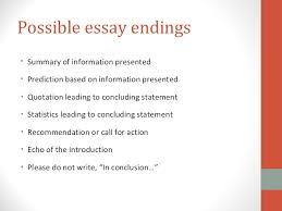 good endings for an essay ending the essay conclusions harvard writing center