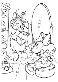 Princesses Daisy Duck And Minnie Mouse Coloring Pages Hellokids Com