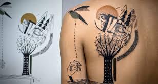 Kubistická Tetování S životním Příběhem Creativelifecz
