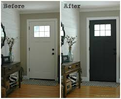 update your entryway with a door painted in iron ore sw 7069 a