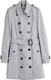 women s fashion outerwear trenchcoats grey trenchcoats burberry london sandringham cotton trench coat