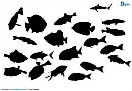 泳いでいる魚のシルエットパワーポイント パワーポイントフリー