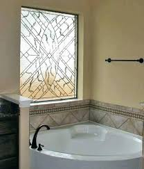 a garden tub window large leaded glass over treatment ideas shower combination decorating smal