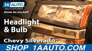 2006 Chevy Silverado Bulb Chart How To Replace Headlights 03 06 Chevy Silverado 1500