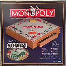 Wooden Sorry Board Game Monopoly and Sorry Plus 100 Classic Games Chesscheckersplaying 2