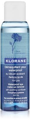 klorane waterproof eye make up remover with soothing cornflower 3 38 fl oz