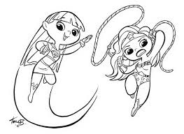 Super Hero Girls Coloring Book With Marvel Comics Pages Also Dc
