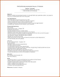 Cna Duties Resume Cna Sample Resume Moa Format 31