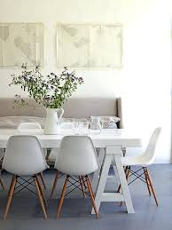 white table and chairs calming colors in dining room dowel leg chair extending white gloss