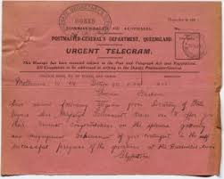 the anzac legend begins queensland s world war centenary telegram dated 29 1915 from the governor general of to the governor of