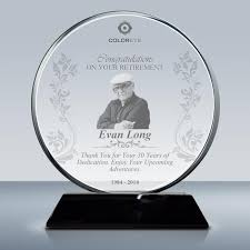 retirement gift crystal plaque 016 design a