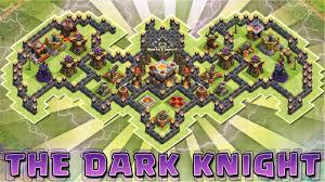 Clash of Clans THE DARK KNIGHT Epic TH11 TH10 BATMAN TROLL.