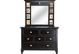 Belmar Black Dresser U0026 Mirror Set