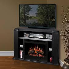 dimplex cloverdale 49 inch corner electric fireplace a console black gds25 1154ba gas log guys