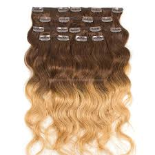Clip In Hair Extension Ombre 8pcs 120g 45cm 4 6 27