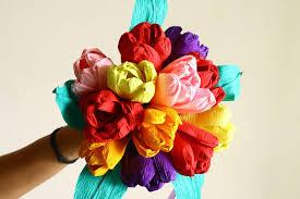 Paper Flower Bouquet Tutorial Tissue Paper Flowers Diy Flower Bouquet Skill Flair Easy