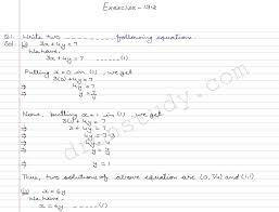 linear equation in two variables ex 13 2 r d sharma