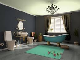 Ideas for painting a bathroom, blue and grey bathroom color scheme ...