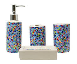 Colorful Bathroom Accessories AmazoncomColorful Bathroom Sets