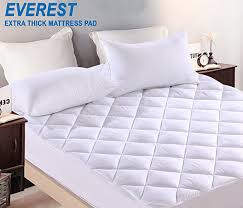 thick mattress pad. Unique Mattress Amazoncom Everest EXTRA THICK Mattress Pad Hypoallergenic Quilted  Topper Deep Pocket Stretch To Fit Microfiber5 STAR Extra Plush Compressed  And Thick