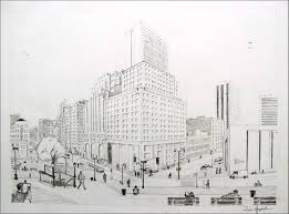 perspective drawings of buildings. 2-Point Perspective City Drawing | Drawings Of Buildings