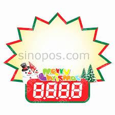 Pop Burst Christmas Pricecards 15x11cm Fluorescent Color Paper