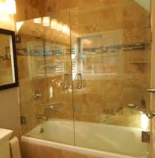 installing glass shower doors tub