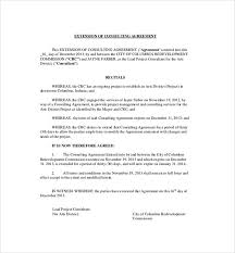 Consulting Agreement In Pdf Extension Of Consulting Agreement 24 Consulting Agreement Template 2