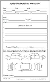 Vehicle Walkaround Worksheet Vehicle Worksheet Walkaround