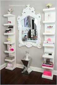 ... Stylish Design Makeup Shelves Plain 10 Cool Ideas To Add A Area Your  Bedroom ...