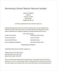 Elementary School Teacher Resume Cool Sample Elementary Teacher Resume Sample Resume Teacher