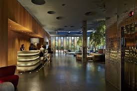 dream downtown hotel in new york city by handel architects designed using microstation check in desk and hotel lobby view to garden