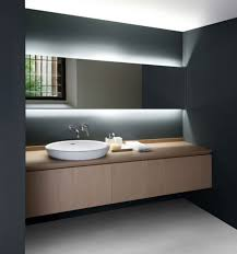 mirror lighting bathroom. Would This Work In Our Space Serene Minimal Countertop Washbasin Gorgeous Hidden Lighting Agape Bathrooms The Landscape Mirror Bathroom N