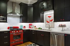 Black, White & Red Kitchen eclectic-kitchen