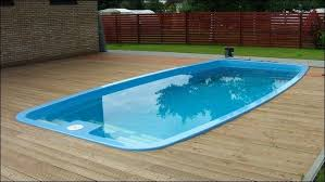 above ground fiberglass pools. Contemporary Pools Swimming Pool Rectangular Above Ground Fiberglass Pool With Wooden Deck  And Entry Steps Pools