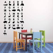 animal abc alphabet wall decal vinyl