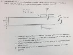Journal Bearing Design Solved The Shaft Shown Below Requires A Journal Bearing
