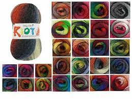 King Cole Riot Dk Multi Coloured Knitting Yarn 100g