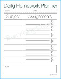 Homework Agenda Printable Student Planner Template Free Printable Luxury 6 Best Of