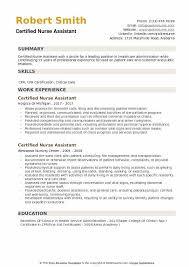 Sample Certified Nursing Assistant Resume Certified Nurse Assistant Resume Samples Qwikresume
