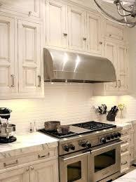 retro cream white kitchen set with marble plus ceramic subway tiles tile countertop uneven ideas