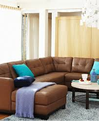 Macys Living Room Furniture Macys Martino Leather 3 Piece Chaise Sectional Sofa Cafe Color