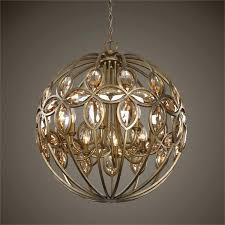 crystal orb chandelier lighting gold finish metal and crystal orb chandelier crystal orb chandelier